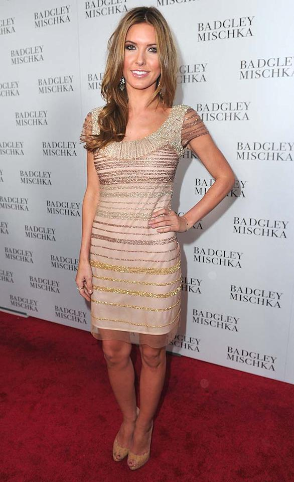 """Last but not least ... former """"Hills"""" star Audrina Patridge, who sparkled in a shimmering sheath at the opening of the Badgley Mischka flagship store on Rodeo Drive in Beverly Hills. Alberto E. Rodriguez/<a href=""""http://www.gettyimages.com/"""" target=""""new"""">GettyImages.com</a> - March 2, 2011"""