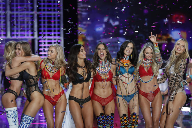 Models at the 2017 Victoria's Secret Fashion Show. (Photo: AP)