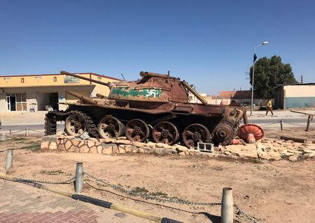 A military vehicle stands in the city of Bani Walid, Libya October 29, 2017.  REUTERS/Ulf Laessing