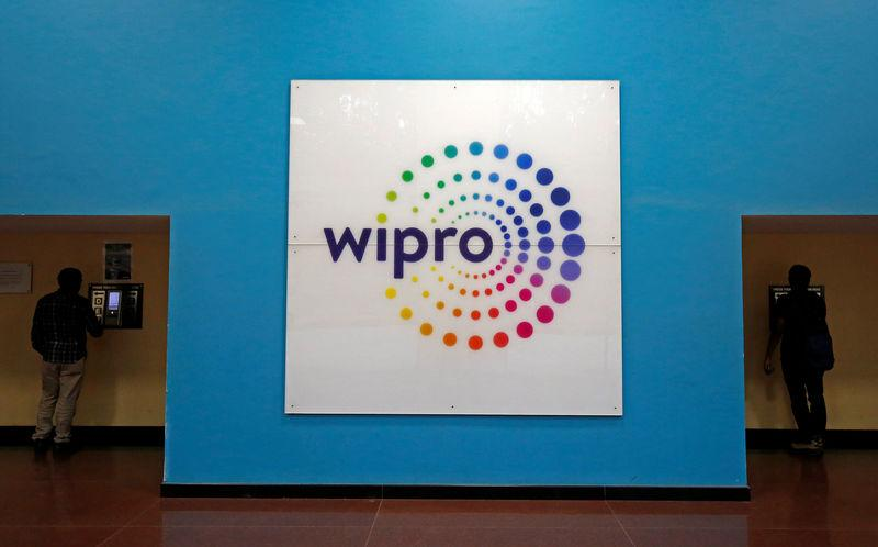 FILE PHOTO - The logo of Wipro is seen inside the company's headquarters in Bengaluru
