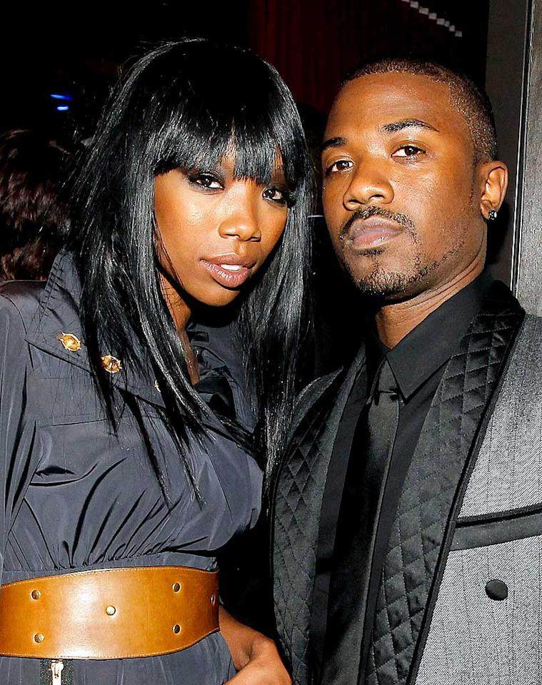 """The diva also checked in for some quality time with her """"Brandy and Ray J: A Family Business"""" co-star, and little bro, Ray J. Nice quilted jacket you've got there Ray! Christopher Polk/<a href=""""http://www.wireimage.com"""" target=""""new"""">WireImage.com</a> - April 28, 2010"""