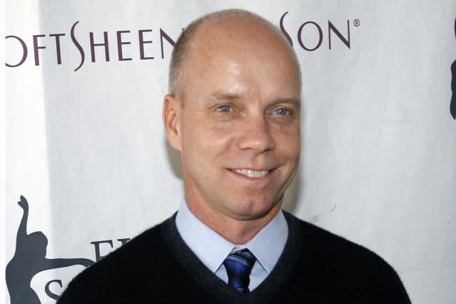 "FILE - In this April 9, 2007 file photo, former Olympic figure skating gold medalist Scott Hamilton arrives for Figure Skating In Harlem's annual gala ""Skating with the Stars"" at Central Park's Wollman Rink in New York. Scott Hamilton gets goosebumps at the mention of Lake Placid. Forty years later, Hamilton will be among an array of athletes returning to celebrate the Olympics of the ""Miracle on Ice"" — when the U.S. hockey team upset the mighty Soviet Union — as well as Eric Heiden's five speedskating gold medals, all in record time and outside in the elements. (AP Photo/Jason DeCrow, File)"