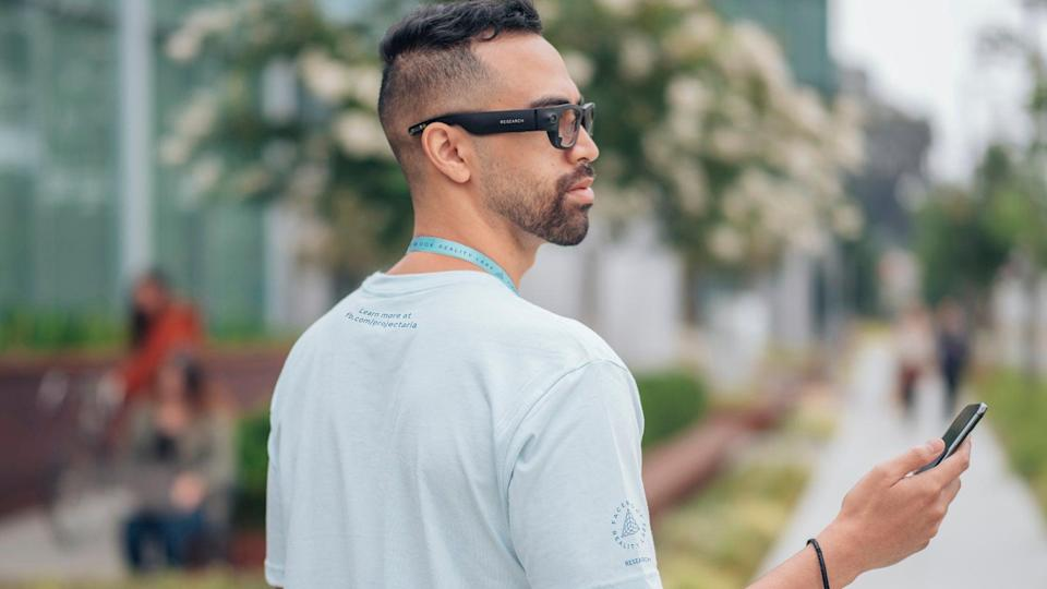 Facebook's unrelated 'Project Aria' glasses (Facebook)