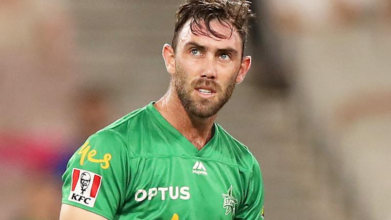 Glenn Maxwell, pictured here after being dismissed in the Melbourne Stars' collapse.