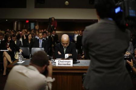 U.S. Federal Reserve Chairman Ben Bernanke is pictured before his testimony at a Joint Economic Committee hearing on economic outlook and policy on Capitol Hill in Washington June 7, 2012. REUTERS/Jason Reed