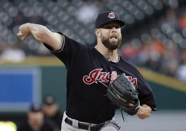 Corey Kluber leads the Indians staff, but it's sketchy after that. (AP)