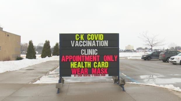 The John D. Bradley Convention Centre in Chatham-Kent was closed as of Saturday due to a lack of vaccines. (Talish Zafar/CBC - image credit)