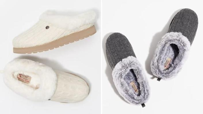 Slip on these slippers instead of cranking up the heat.