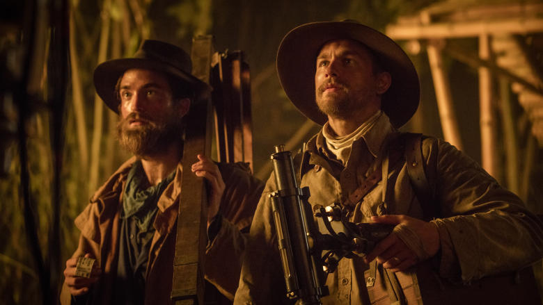 Charlie Hunnam and Robert Pattinson in The Lost City of Z