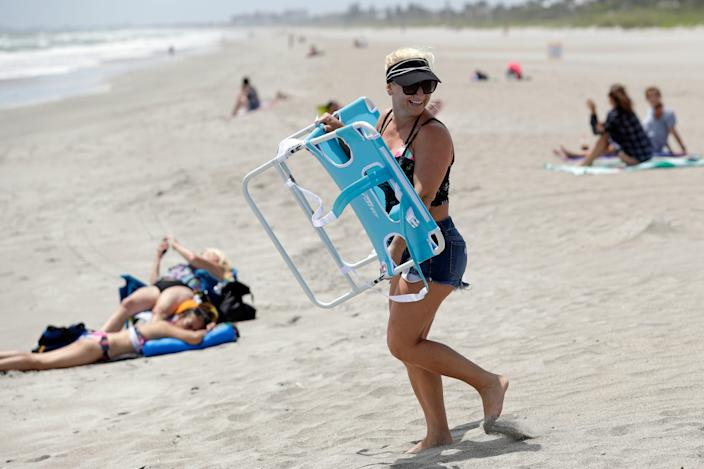 Florida beaches are reopening; however, many stationary activities such as sunbathing or socializing in groups are still off limits.