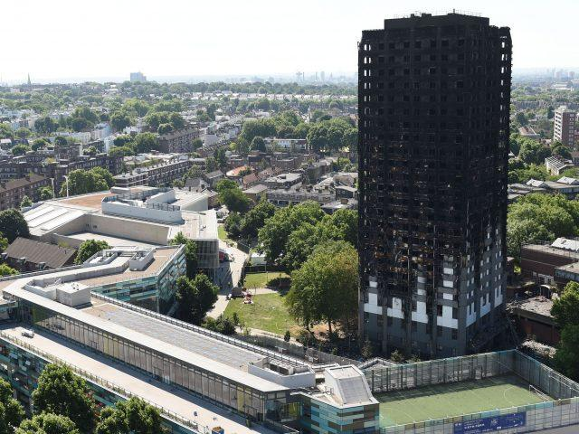 Grenfell Tower following the June disaster