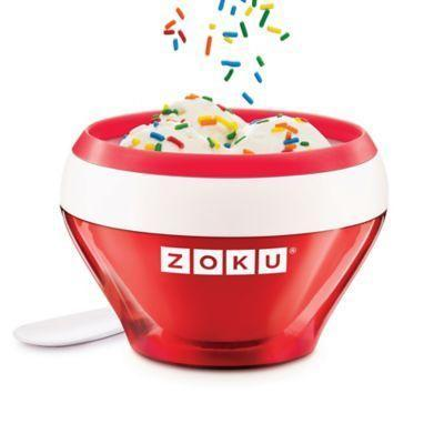 """<p><strong>Zoku</strong></p><p>bedbathandbeyond.com</p><p><strong>$20.79</strong></p><p><a href=""""https://go.redirectingat.com?id=74968X1596630&url=https%3A%2F%2Fwww.bedbathandbeyond.com%2Fstore%2Fproduct%2Fzoku-reg-ice-cream-maker%2F3267403&sref=https%3A%2F%2Fwww.delish.com%2Ffood-news%2Fg31250312%2Fice-cream-makers%2F"""" rel=""""nofollow noopener"""" target=""""_blank"""" data-ylk=""""slk:BUY NOW"""" class=""""link rapid-noclick-resp"""">BUY NOW</a></p><p>This ice cream maker is essentially just a bowl that you can use right on your table top—no electricity required. Are you picking up what we're putting down? It's super easy to clean up since you can eat right out of the bowl once it's mixed. </p>"""