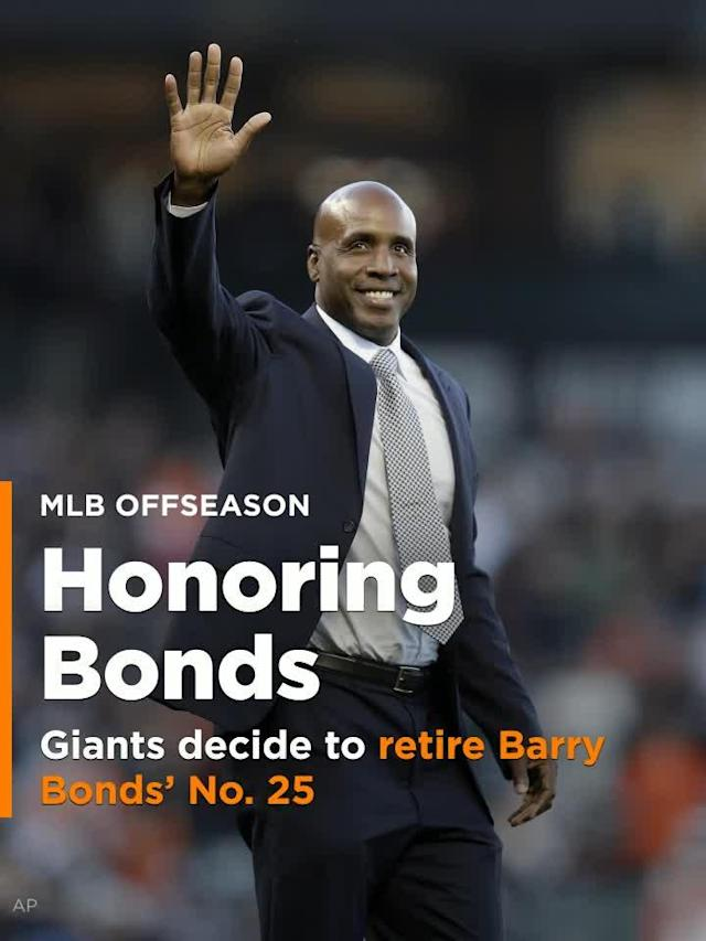 The San Francisco Giants broke from tradition Tuesday and announced their plans to retire No. 25 in honor of Barry Bonds.