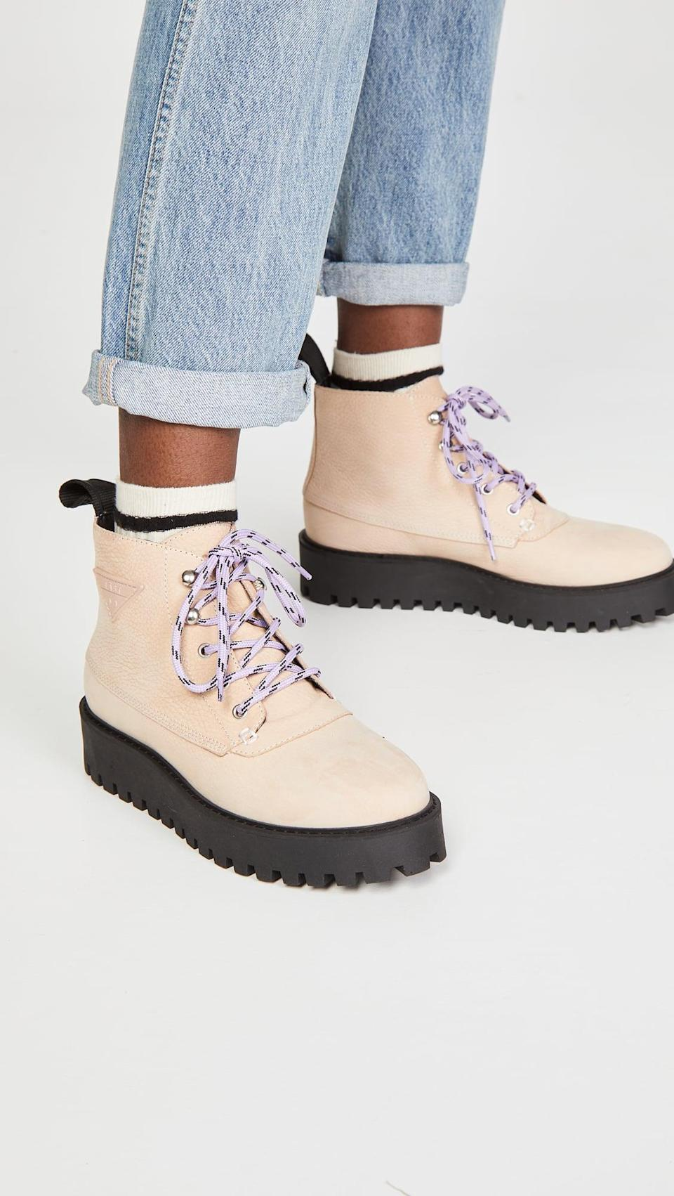 <p>How cute are the purple laces on these <span>Last Rocky Boots</span> ($259)?</p>