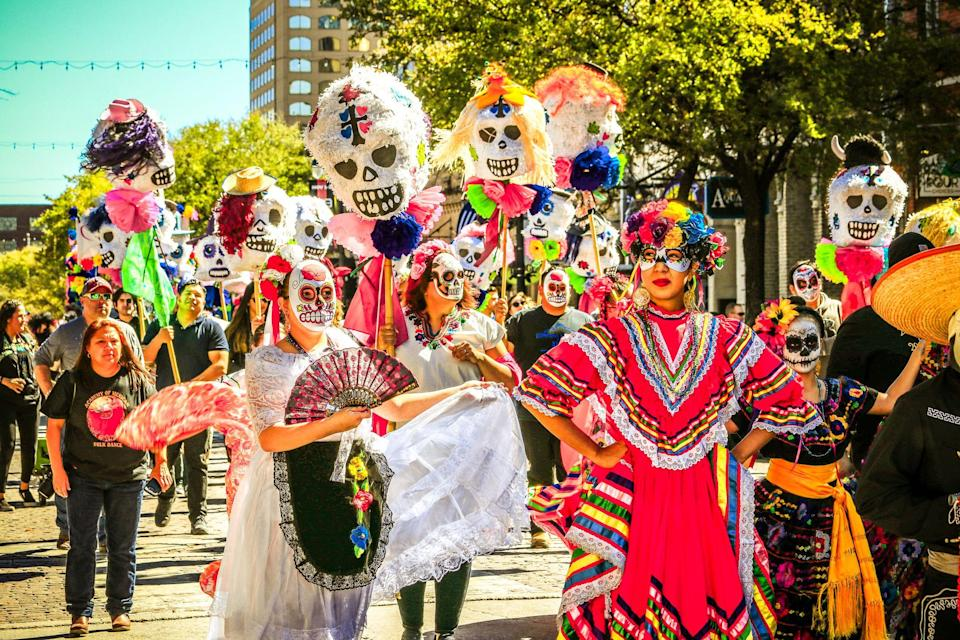 """<p>Día de Muertos, or Day of the Dead, is a beautiful tradition that <a href=""""https://artsandculture.google.com/project/dia-de-muertos"""" rel=""""nofollow noopener"""" target=""""_blank"""" data-ylk=""""slk:celebrates the lives"""" class=""""link rapid-noclick-resp"""">celebrates the lives</a> of the deceased on November 1 and 2. It's a holiday to honor and pay respect to loved ones and has strong roots in Aztec culture with a Spanish influence. From sugar skulls to <a href=""""https://www.goodhousekeeping.com/holidays/a34076822/dia-de-los-muertos-flowers-meaning/"""" rel=""""nofollow noopener"""" target=""""_blank"""" data-ylk=""""slk:flowers"""" class=""""link rapid-noclick-resp"""">flowers</a> and more, there are several customs that families partake in as they welcome their ancestors' souls back to the living world for these days. Although this holiday is mainly celebrated in Mexico, it's also recognized in parts of Latin America, the United States and other areas.</p><p>Every year, families prepare for their loved ones' arrival weeks in advance. Part of this includes creating ofrendas (altars) that are adorned with photos and food. Other items that you see around this time is colorful tissue paper that is hung up for their souls to pass through or bright marigolds which help guide them back.</p><p>It's a day for families to come together at night to visit the cemeteries, light candles and celebrate their loved one's life so that they are never forgotten. It's not a time to mourn, but rather a moment to remember and honor their life. You may also be wondering if there is any relation to Día de Muertos and Halloween since they are close together in dates and share symbolic skulls, however, it's important to note that they have no relation at all.</p><p>Below, we are sharing 11 facts about Día de Muertos and the beloved Mexican customs.</p>"""