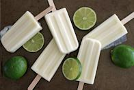 """<p>A frozen treat with a bit of zest, these creamsicles will add a fruity and tangy addition to a hot afternoon.</p> <p><b>Get the recipe</b>: <a href=""""http://www.girlversusdough.com/2014/06/26/lime-creamsicles/"""" class=""""link rapid-noclick-resp"""" rel=""""nofollow noopener"""" target=""""_blank"""" data-ylk=""""slk:lime creamsicles"""">lime creamsicles</a></p>"""