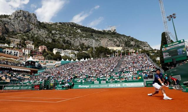 """<span class=""""element-image__caption"""">Novak Djokovic was beaten in the second round at Monte Carlo in 2016 but squeezed past Gilles Simon in the first round.</span> <span class=""""element-image__credit"""">Photograph: Eric Gaillard/Reuters</span>"""