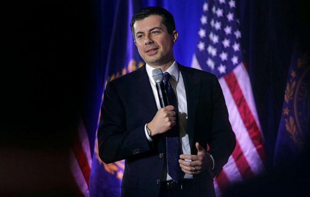 PHOTO: Democratic presidential candidate and former South Bend Mayor Pete Buttigieg addresses a gathering during a campaign stop in Concord, N.H., Jan. 17, 2020. (Charles Krupa/AP)