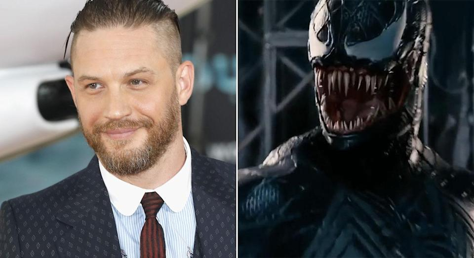 Tom Hardy will play Venom using performance capture (Getty/Sony Pictures)