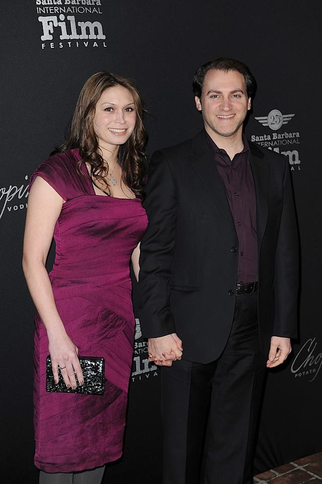 "<a href=""http://movies.yahoo.com/movie/contributor/1808885116"">Michael Stuhlbarg</a> and guest at the 25th Annual Santa Barbara Film Festival on Feburary 7, 2010"