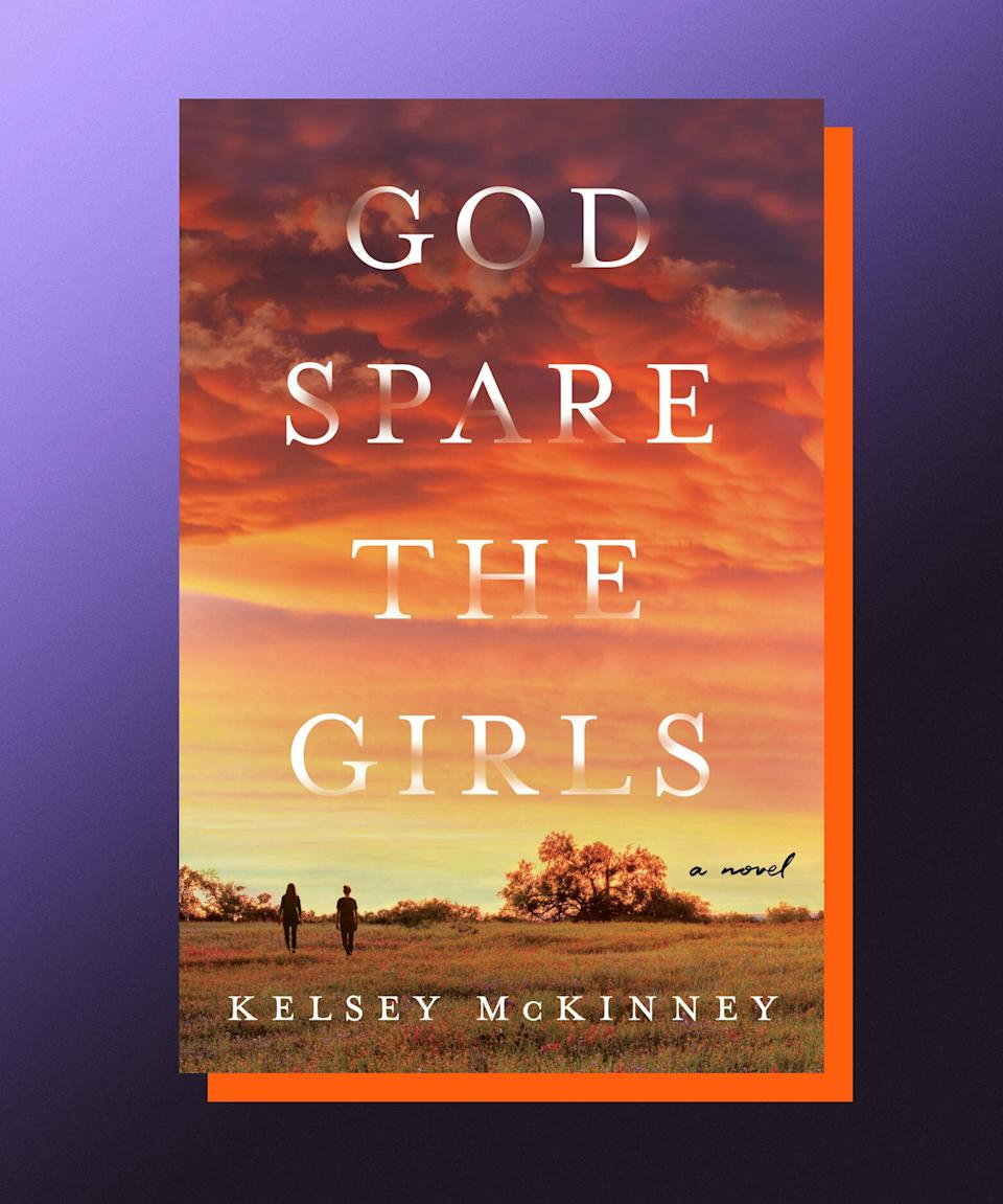 """<strong><em>God Spare the Girls</em>, Kelsey McKinney</strong> <strong>(</strong><a href=""""https://bookshop.org/books/god-spare-the-girls/9780063020252"""" rel=""""nofollow noopener"""" target=""""_blank"""" data-ylk=""""slk:available June 22"""" class=""""link rapid-noclick-resp""""><strong>available June 22</strong></a><strong>)</strong><br><br>Being part of a family is like being part of a very small religion (or maybe a cult?), in that it requires no small amount of faith in one another to keep everything going. What happens, then, when that faith is shaken? When the people upon whom you've relied your entire life to be truthful with you turn out to have been lying the whole time? In her compelling debut novel, Kelsey McKinney grapples with these questions through the lens of the Nolan family; father, Luke, is a beloved preacher, whose reputation relies, in part, on his promotion of the purity of young women — including his daughters, Abigail and Caroline. But, when Luke is revealed to not have, you know, practiced what he preached, the two girls retreat from their family, and interrogate what values are actually important to them. Both a coming-of-age book and an examination of belief, identity, and family, <em>God Spare the Girls</em> is unflinching and entrancing, and a reminder of the dangers of blind faith, but also the power of love.<br><br>"""