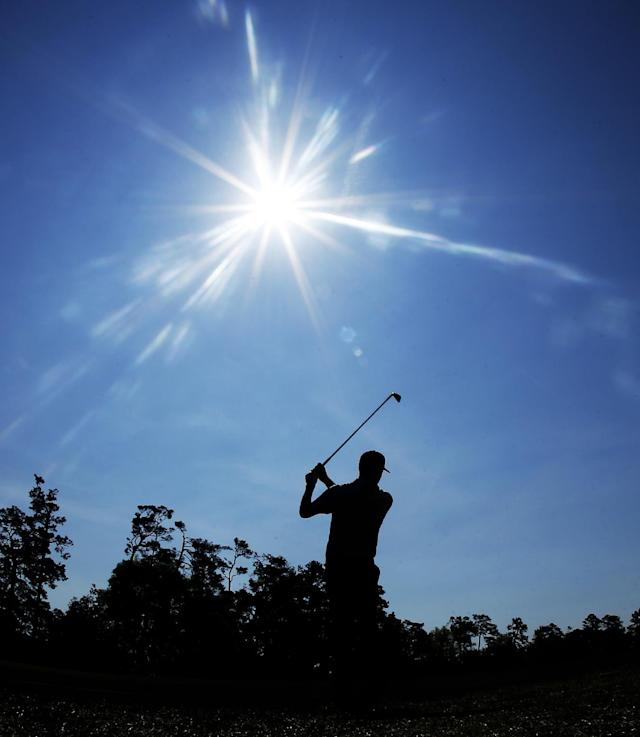 Chris Kirk hits off the fifth fairway during the second round of the Masters golf tournament Friday, April 11, 2014, in Augusta, Ga. (AP Photo/Matt Slocum)