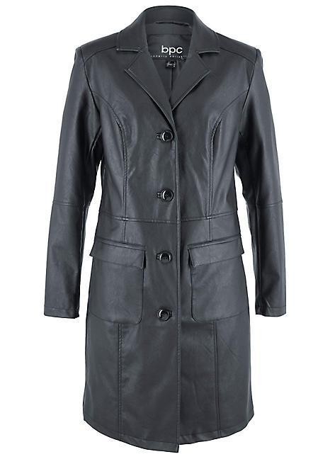 """<br><br><strong>BON PRIX</strong> Pleather Trench Coat, $, available at <a href=""""https://www.freemans.com/products/pleather-trench-coat/_/A-971736_20"""" rel=""""nofollow noopener"""" target=""""_blank"""" data-ylk=""""slk:Freemans"""" class=""""link rapid-noclick-resp"""">Freemans</a>"""