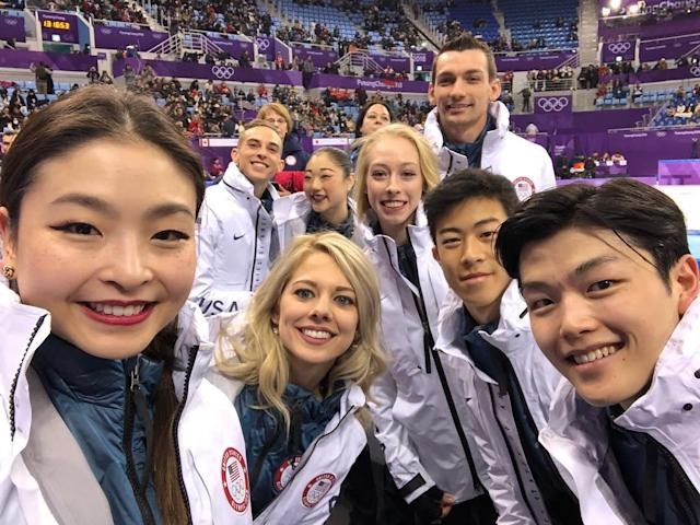 <p>Maia Shibutani, Alex Shibutani USA, ice dancing<br>shibsibs: Thank you everyone! WE DID IT! So proud of this team!! ❤️❤️ Repost: @maiashibutani (Photo via Instagram/shibsibs) </p>