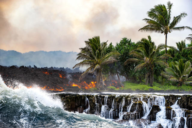 """<p>""""Here in Hawaii, the volcano is embodied with the legend of the fire goddess Pele."""" (Photo: CJ Kale/Caters News) </p>"""