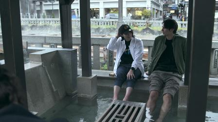terrace house tsubasa and shion foot bath date