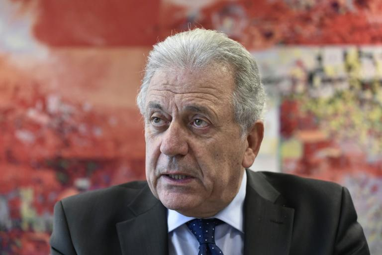 The EU's migration commissioner Dimitris Avramopoulos said all countries should 'share the burden' of refugees