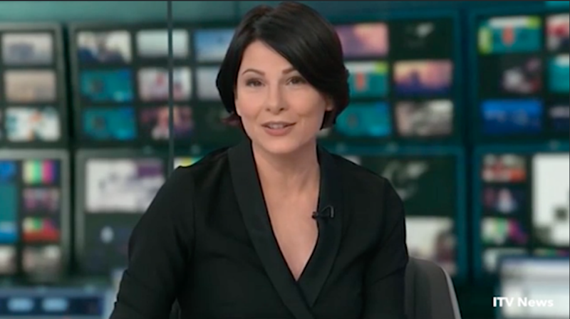She quickly cut to an ad break. Photo: ITV