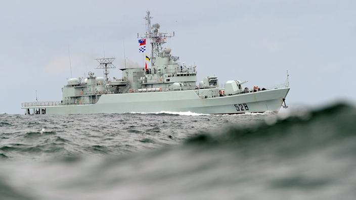 A file photo of a Chinese People's Liberation Army warship