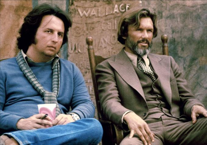 Director Michael Cimino with Kris Kristofferson on the set of 'Heaven's Gate' which has received a critical rethink recently (MGM)