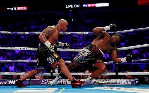 Dillian Whyte recovered from a ninth-round knockdown to beat Rivas - Credit: Reuters