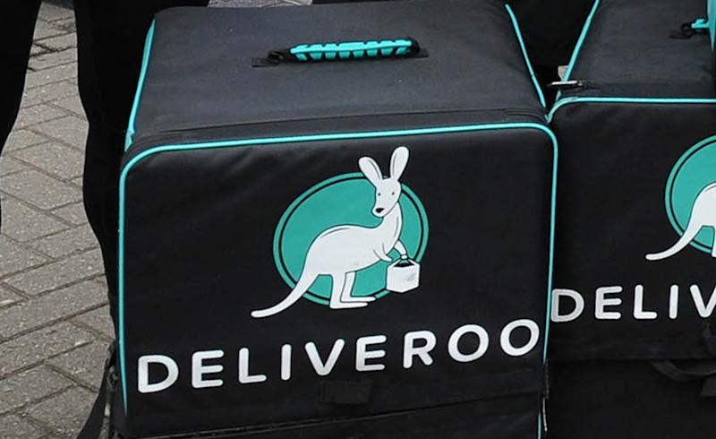 Deliveroo courier bags. Photo: Rui Vieira/PA Wire/PA Images