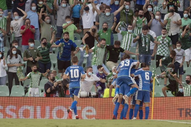 Real Betis came from 2-0 down to beat Celtic 4-3 (AFP/JORGE GUERRERO)
