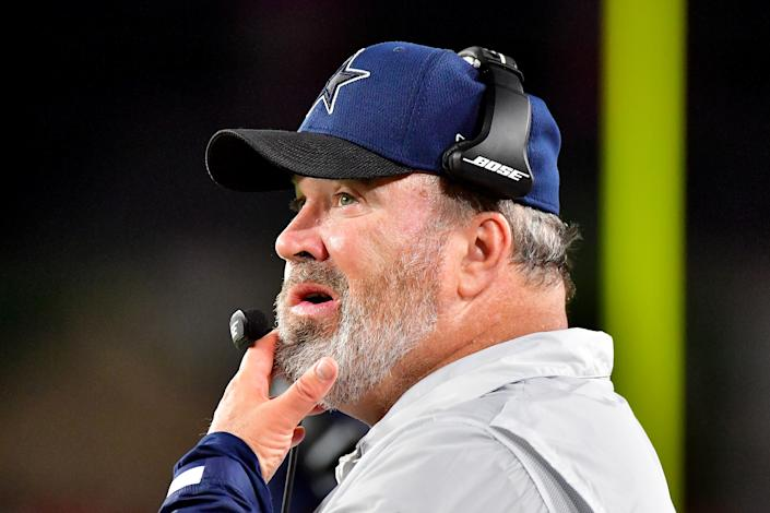 Mike McCarthy's decision to kick a field goal late in the the Cowboys' loss to the Buccaneers was deemed the worst decision of Week 1. (Julio Aguilar/Getty Images)