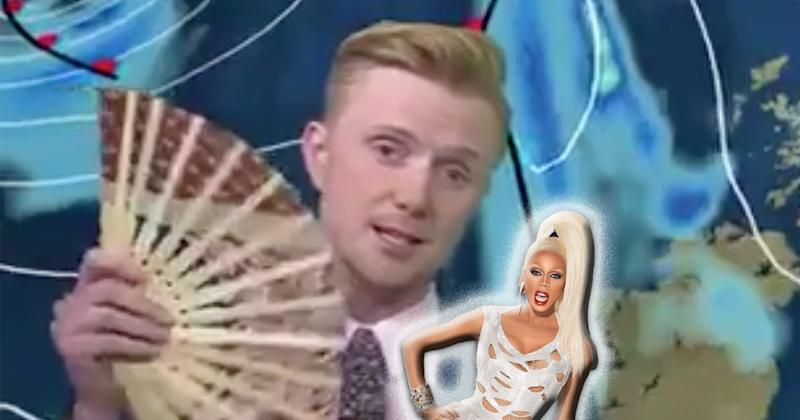 """This weatherman delivered a fabulous weather report filled with """"RuPaul's Drag Race"""" references"""