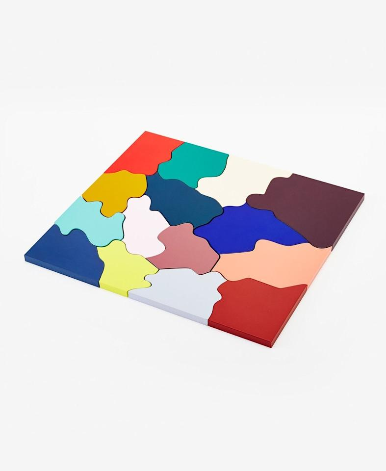 "Inspired by a puzzle the Swedish designer Clara von Zweigbergk made when she was eight, this MDF version has 15 bright abstract shapes for sliding around a table or stacking up in a squiggly formation. <a href=""https://www.areaware.com/collections/toys-games/products/color-puzzle?variant=13551270020"" rel=""nofollow"">SHOP NOW</a>: Color Puzzle by Clara von Zweigbergk for Areaware, $40, areaware.com"