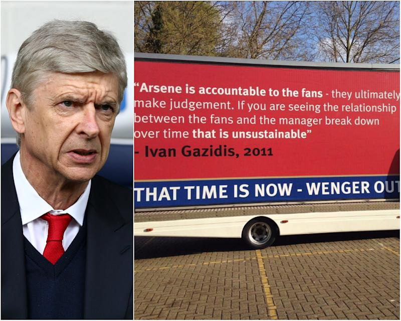 Arsenal fans have hired a special 'Wenger Out' van: Getty