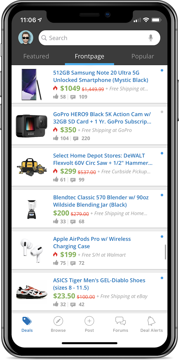 With about 12 million users, Slickdeals is considered the largest social platform for scoring deals at retail and online. With the Slickdeals browser extension, get early access to best-of-web deals, as vetted and voted on by its community.