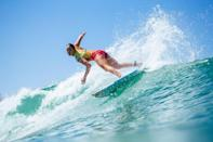"""<p>It's hard to imagine that a world champion surfer who regularly encounters waves that are dozens of feet high is afraid of anything, but Moore openly admits that <a href=""""http://www.carissamoore.com/"""" class=""""link rapid-noclick-resp"""" rel=""""nofollow noopener"""" target=""""_blank"""" data-ylk=""""slk:she's afraid of heights"""">she's afraid of heights</a>. It turns out that Olympic surfers are more like us than we think!</p>"""