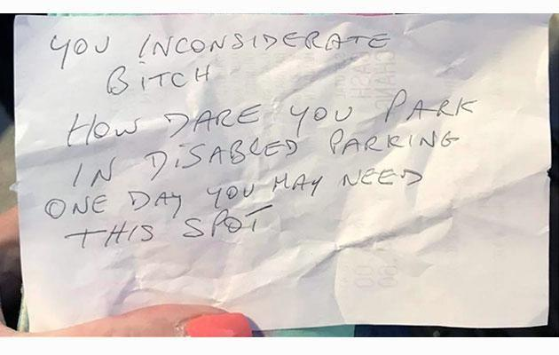 This is the note. Photo: Caters News