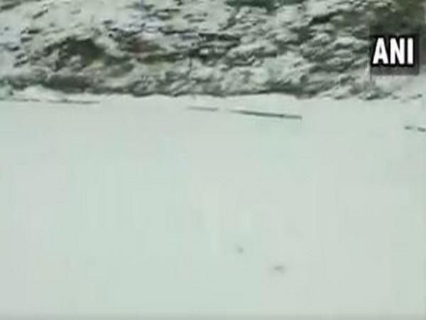 Higher reaches of Pirpanjal mountain range receives heavy snowfall, resulting in the closure of Mughal road in Jammu. (Photo/ANI)