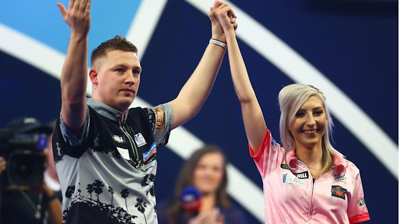 Female star Sherrock's world darts run ends
