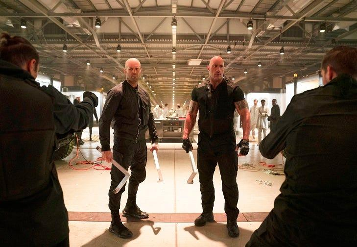 Deckard Shaw (Jason Statham) and Luke Hobbs (Dwayne Johnson) were joined by surprising major names in