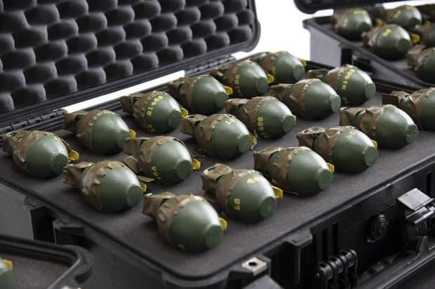 A total of 81 grenades and two grenade launchers were discovered during the raids that took place for Project Weaver.