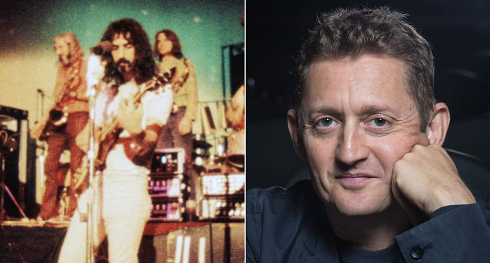 Composite image showing Frank Zappa (L) and director Alex Winter (R) (Altitude)