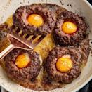 """<p>You've heard of egg-in-a-whole toast before, but this is a whole new level. It instantly becomes the most Instagrammable dinner. </p><p>Get the <a href=""""https://www.delish.com/uk/cooking/recipes/a35416423/egg-in-a-hole-burger/"""" rel=""""nofollow noopener"""" target=""""_blank"""" data-ylk=""""slk:Egg-In-A-Hole Burgers"""" class=""""link rapid-noclick-resp"""">Egg-In-A-Hole Burgers</a> recipe.</p>"""